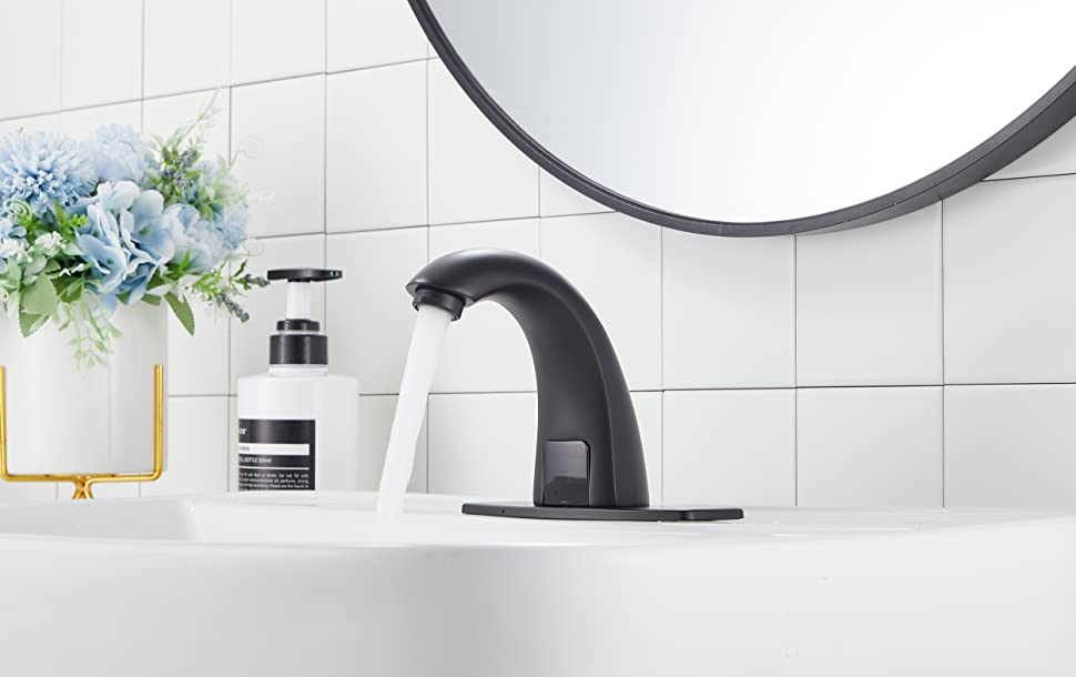 YBlucklly Automatic Sensor Touchless Bathroom Sink Faucet