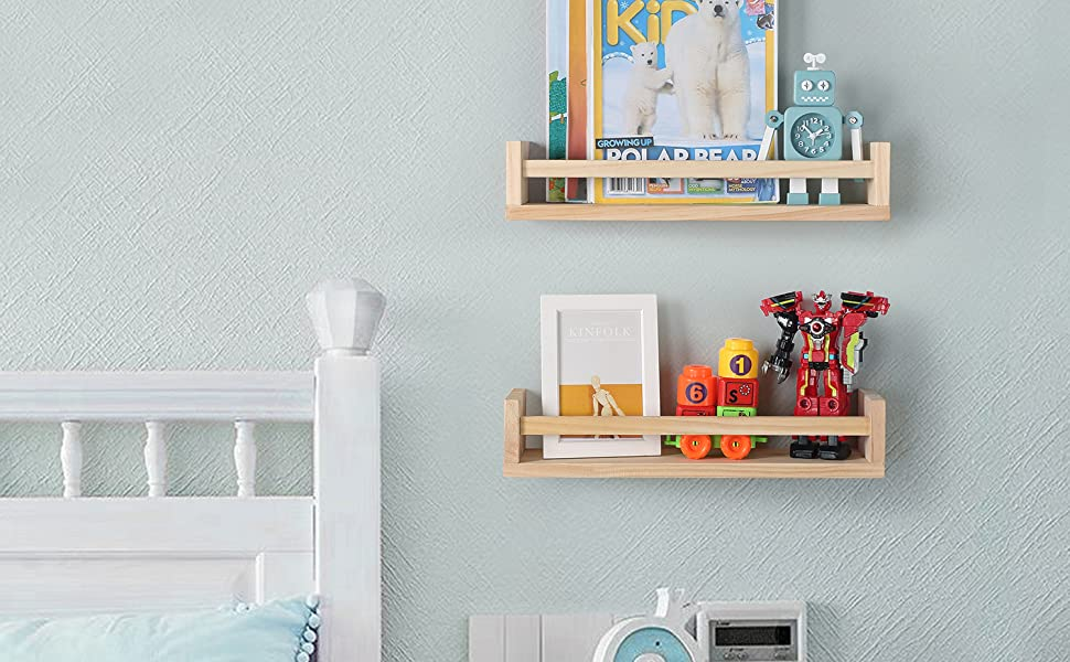 Set Of 2 Wall Bookshelves For Nursery: Adding Storage Capacity In Style