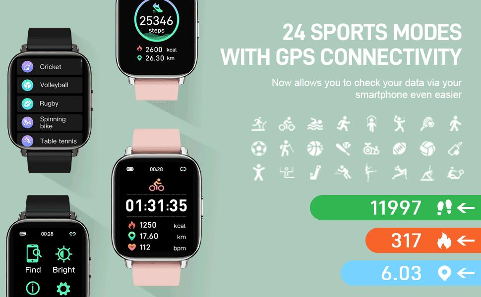 24 sports modes sport watch smart watches for women digital watches for women womens smart watch