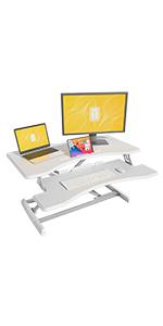 FEZIBO Height Adjustable Stand up Desk Converter
