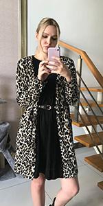 Leopard Print Lightweight Cardigan