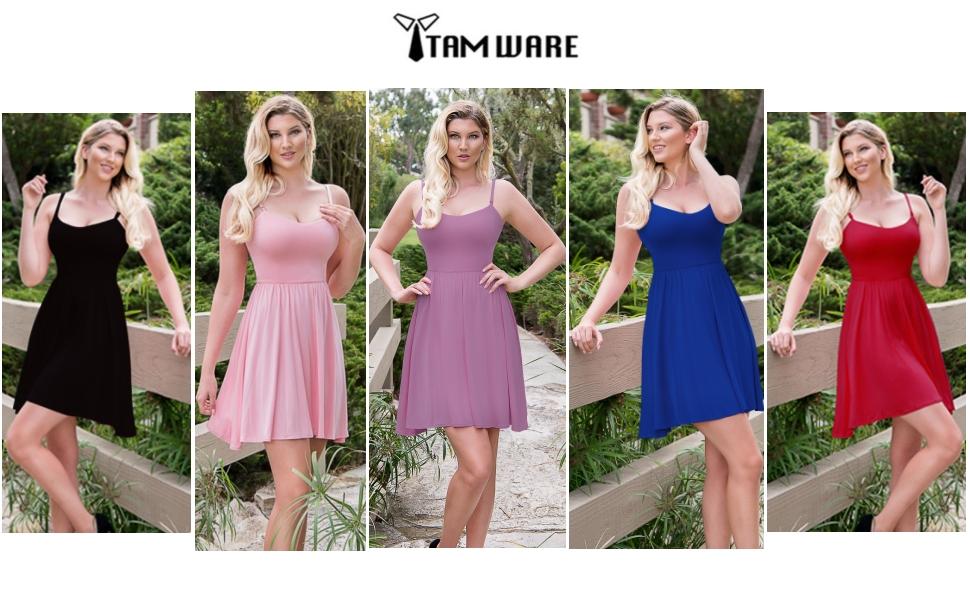 Womenamp;#39;s Stylish Removable Shoulder Strap Skater Dress