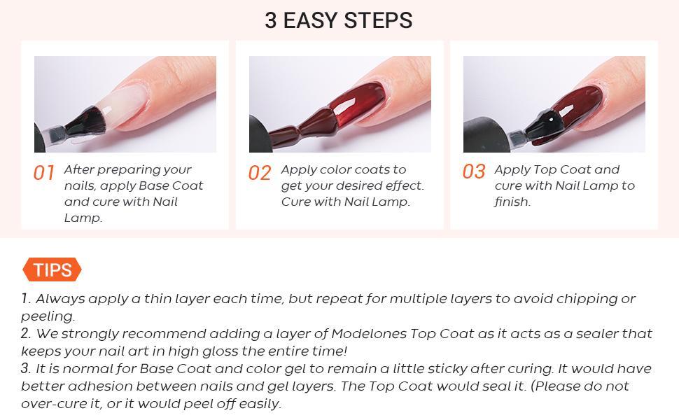 gel nail polish appy steps