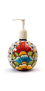 Talavera Soap Dispenser Floral