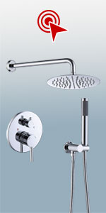 Wall Mounted Shower Faucet Set