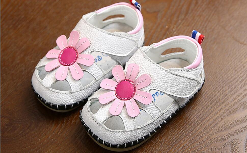 baby girls summer leather sandals