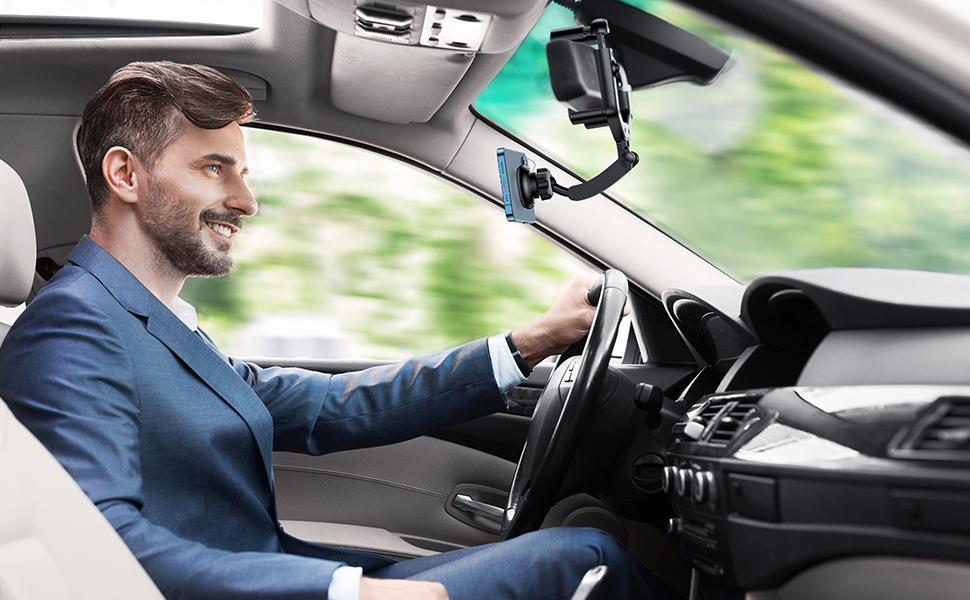 Car mirror mount