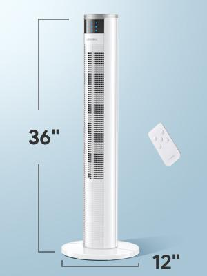 Lensoul Tower Fan, 36'' Oscillating Tower Fan with Remote, 3 Modes for Bedroom and Home Office Use