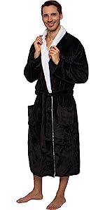 Sherpa trim robe