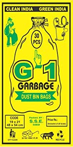 Medium Sized Black Colored Garbage Bags