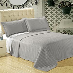 multi piece checkered coverlet