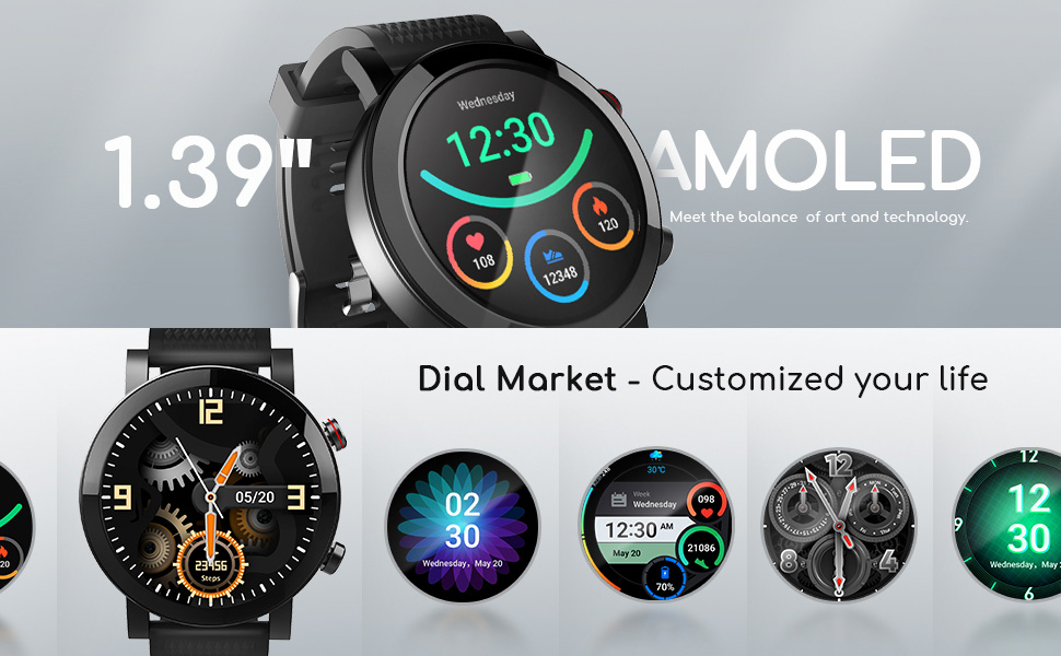 Smart Watch for Android & iOS Phones Compatible 14 Days Endurance IP68 Swimming Waterproof6