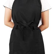 black bbq apron