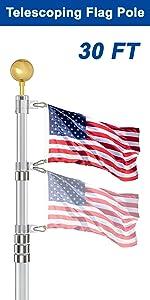 30 ft flag pole