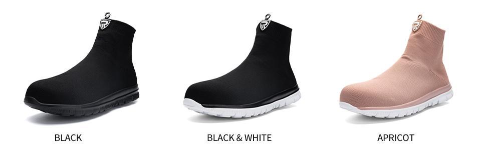 black steel toe work boots for men
