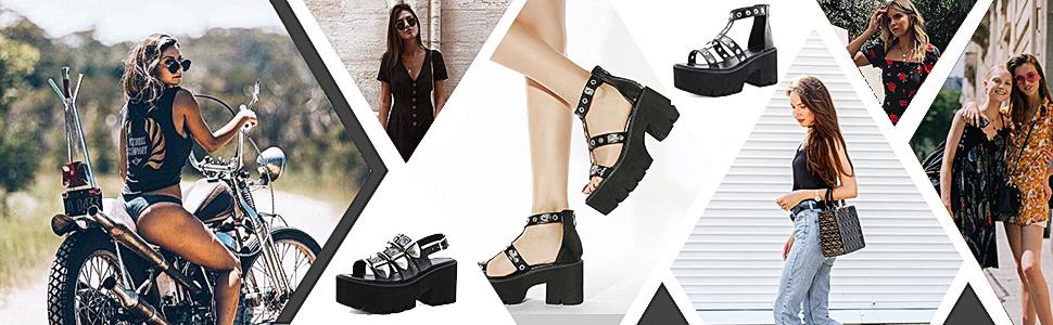 goth sandals