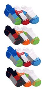 Jefferies Socks Boys Sport Tab Half Cushion Athletic Low Cut Socks 12 Pair Pack