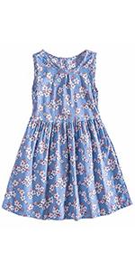 niña vestido floral azul