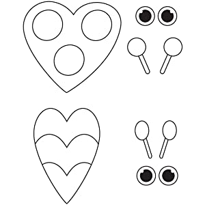 Template for the Ladybug papercraft project.
