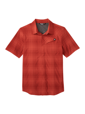 Outdoor Research Men's Astroman Short Sleeve Sun Shirt - Breathable UPF 50 Technical Button Down