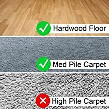 no high pile carpet