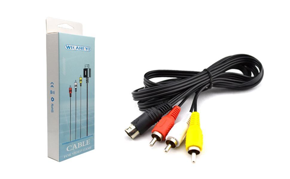 WICAREYO Câble TV Audio Vidéo pour Mega Drive 2 & 3