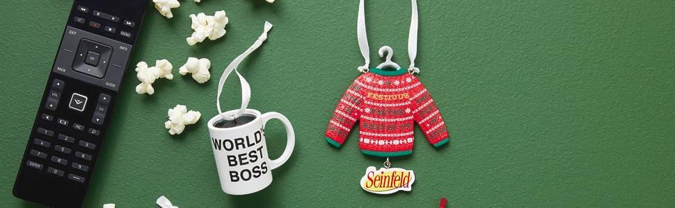 Pop Culture Hallmark Ornaments Friends The Office Seinfeld Back to the Future