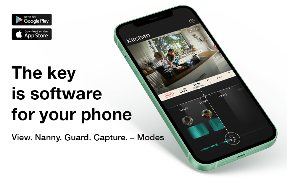 Homam software is a key – View. Nanny. Guard. Capture. – Modes