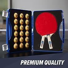 Premium quality table tennis rackets ping pong balls