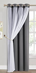 greey doule curtain