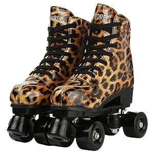 black roller skates