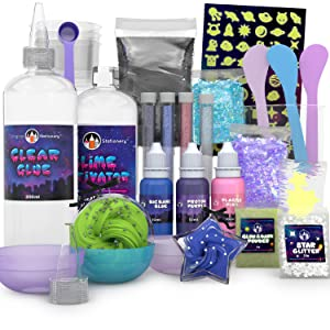 slime kit set slimes regalo para niñas niños regalos chicos manualidades infantiles 5 6 7 8 Galaxy