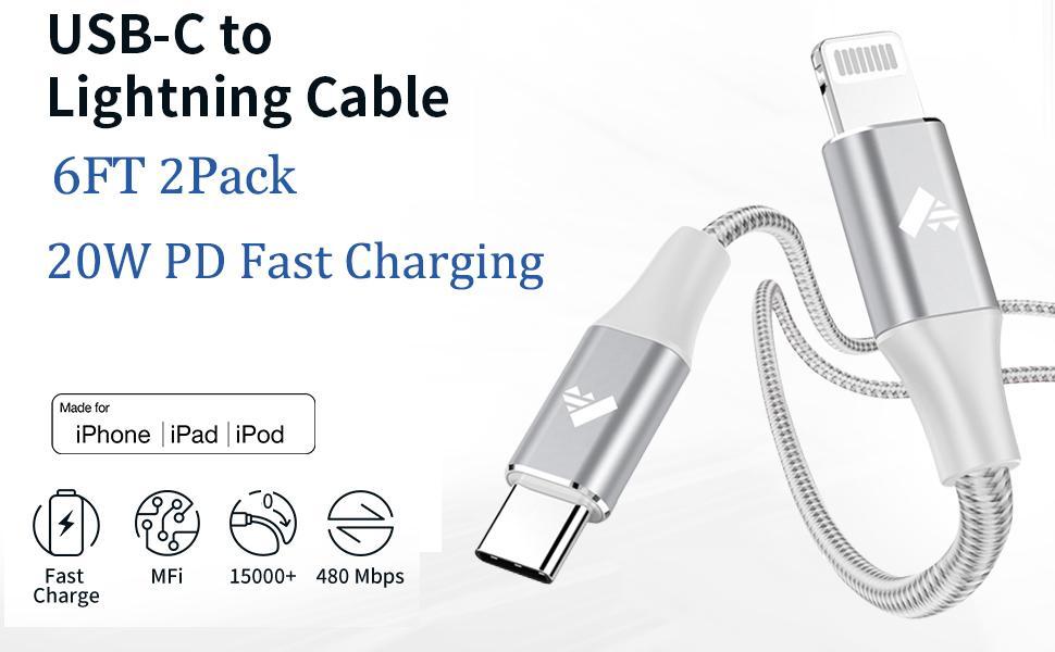 USB C lightning cable