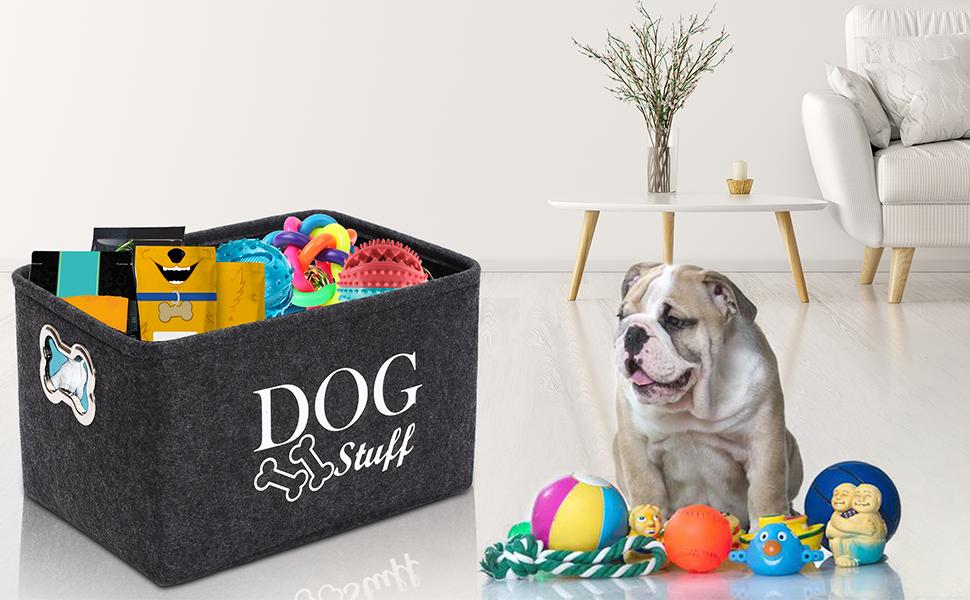 felt dog toy box