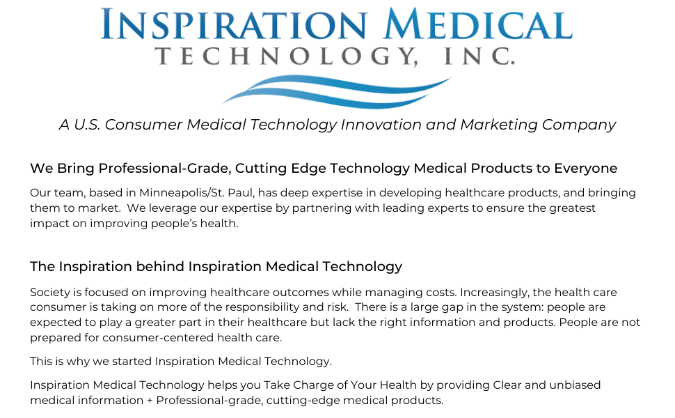 About Inspiration Medical Tech