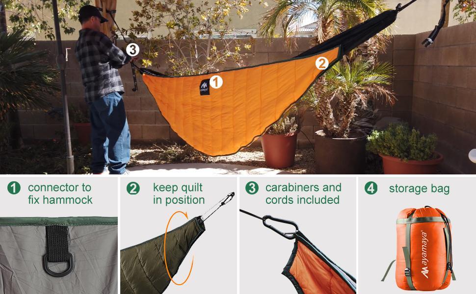 hammock underquilt detail
