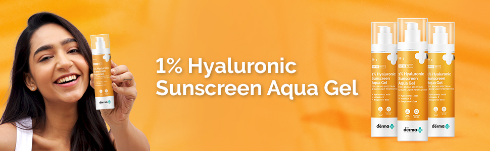 1% Hyaluronic Sunscreen Aqua Ultra Light Gel with SPF 50