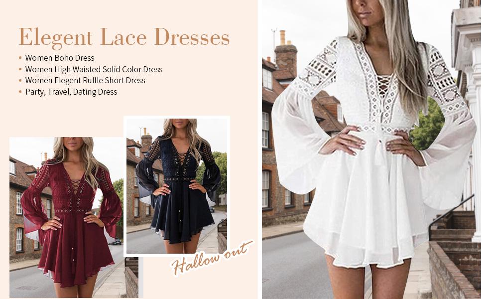 women elegant lace dress