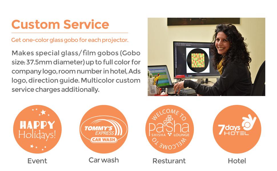 15w gobo projector custom logo glass outdoor
