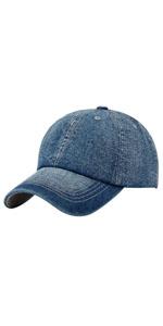 Denim Baseball Cap Cotton Adjustable Trucker Hat