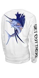 fishing long sleeve shirt for sun protection