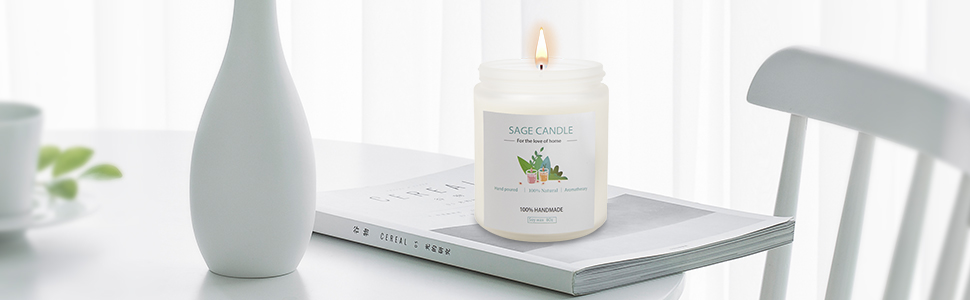 white sage candles for scented candles