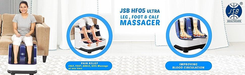 JSB HF05 Ultra Leg Massager for Pain Relief