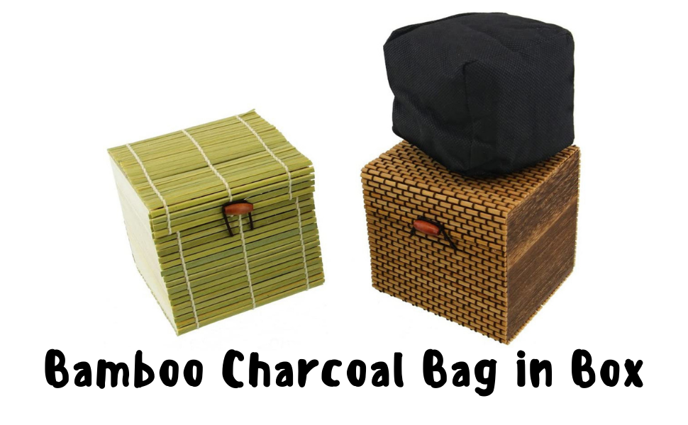 bamboo charcoal bags odor absorber square pouch decorative box