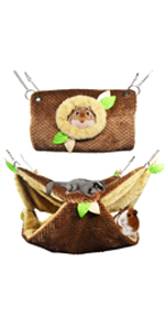 Hamster Hanging Bunkbed Hammock amp; Tunnel Warm Bed House