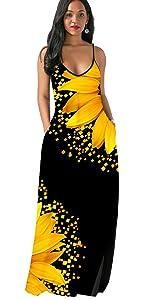 Women sunflower dress