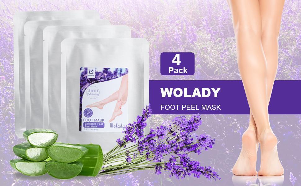 Wolady foot mask 4 pack