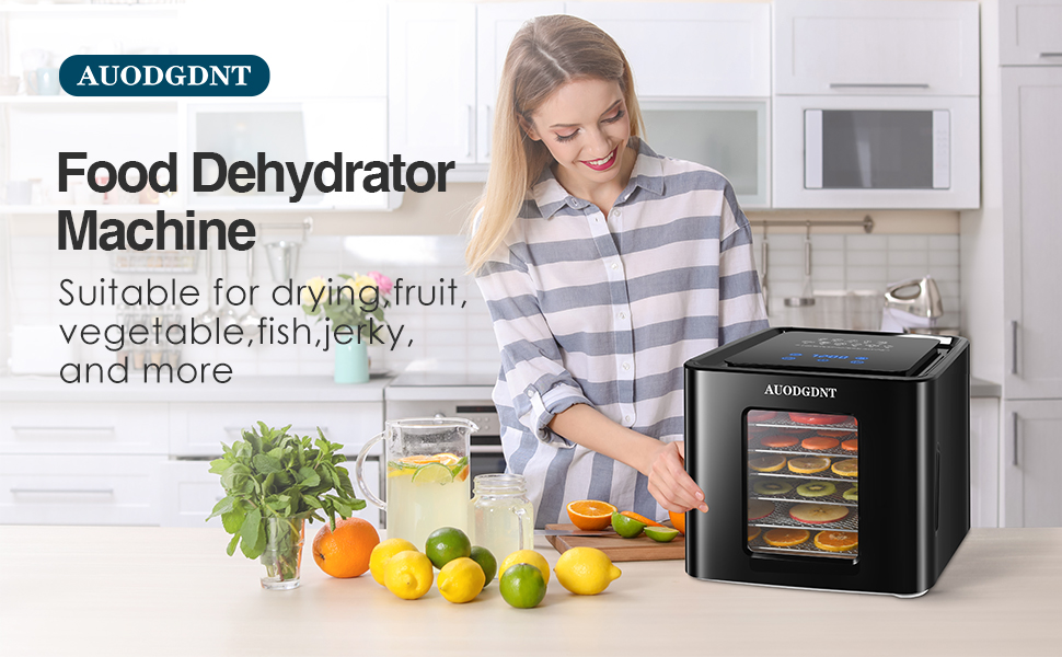 AUODGDNT 6 Stainless Steel Trays Food Dehydrator Machine