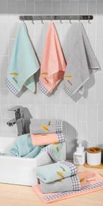 leaf hand towels
