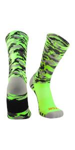 TCK Woodland Camo Football Socks Basketball Socks Lacrosse Socks Athletic Crew Socks